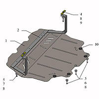 Защита двигателя кольчуга Volkswagen Jetta 2014- V-1,6TDI;, фото 1