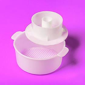 Форма для сыра с прессом до 1,3 кг. пластиковая Консенсус 2696