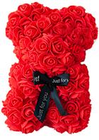 Мишка из роз Teddy Bear 25 см, подарок любимой на 14 февраля, мишка из роз 25 см, ведмедик з роз