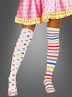Разноцветные клоунские чулки