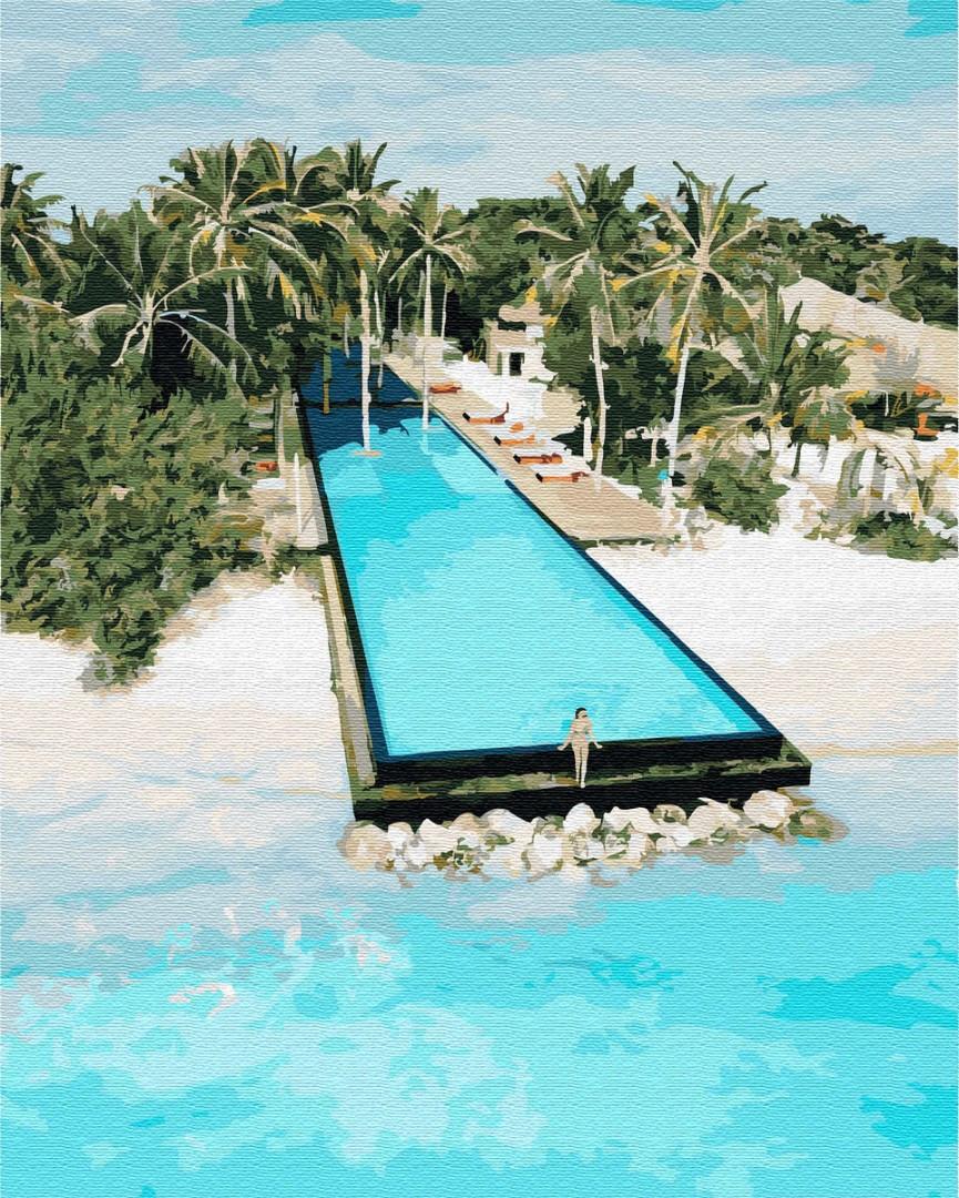Картина по номерам Остров для двоих 40х50см BrushMe GX30244 Набережные и побережья