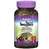 Мультивитамины с железом, Single Daily, Bluebonnet Nutrition, 30 капсул