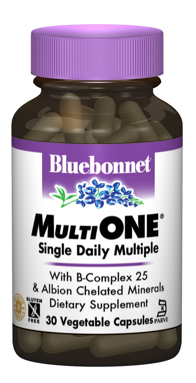 Мультивитамины с железом, MultiONE, Bluebonnet Nutrition, 30 гелевых капсул