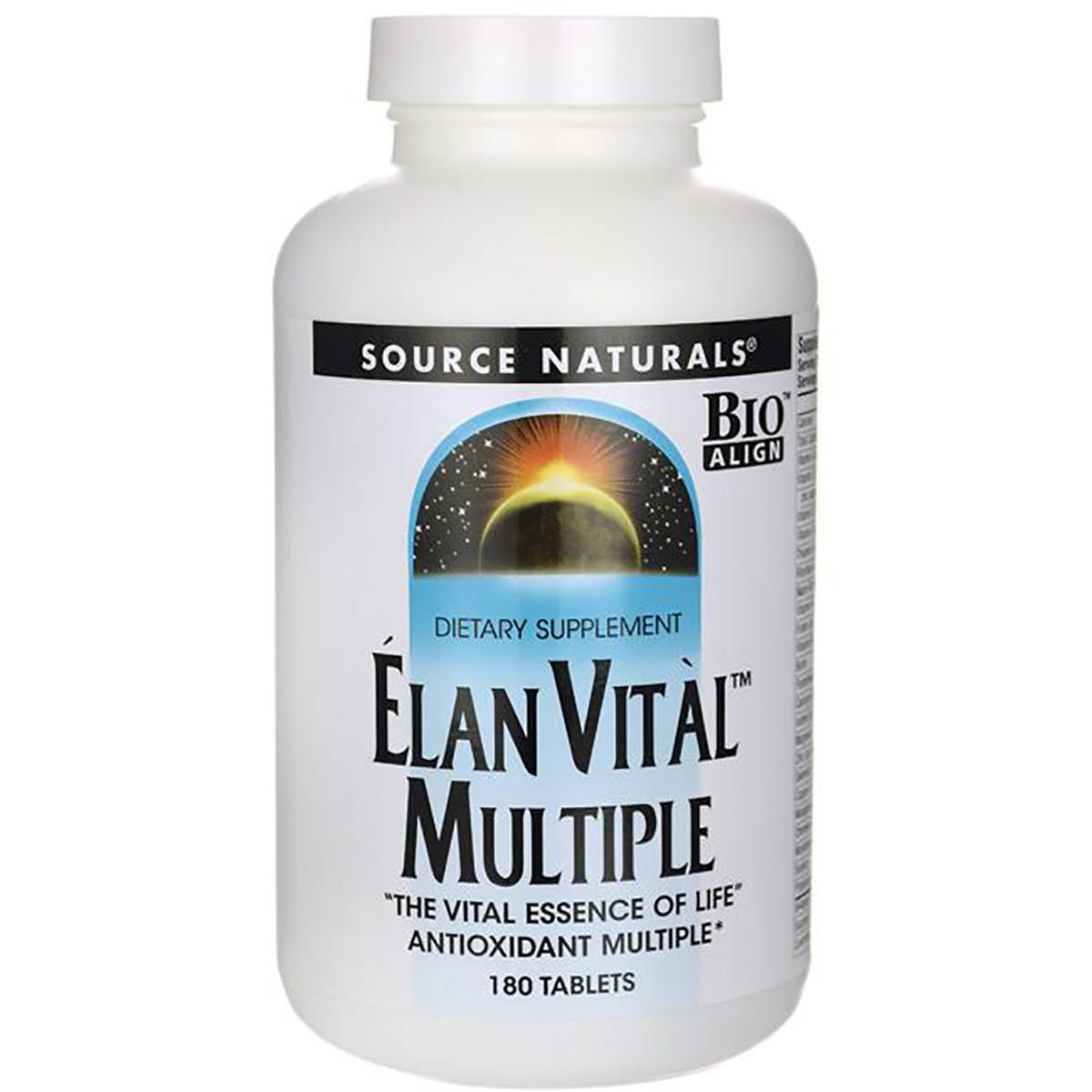 Мультивитамины, Elan Vital Multiple, Source Naturals, 180 таблеток