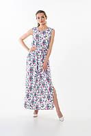 Платье женское Este в цветочный принт с разрезами сиреневое