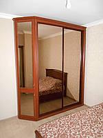 Шкаф купе на заказ от производителя в спальню зеркальные раздвижные двери