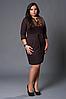 Платье с вышивкой №229-1, размер 50 шоколад