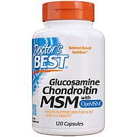 Глюкозамин & Хондроитин & МСМ, OptiMSM, Doctor's Best, 120 капсул
