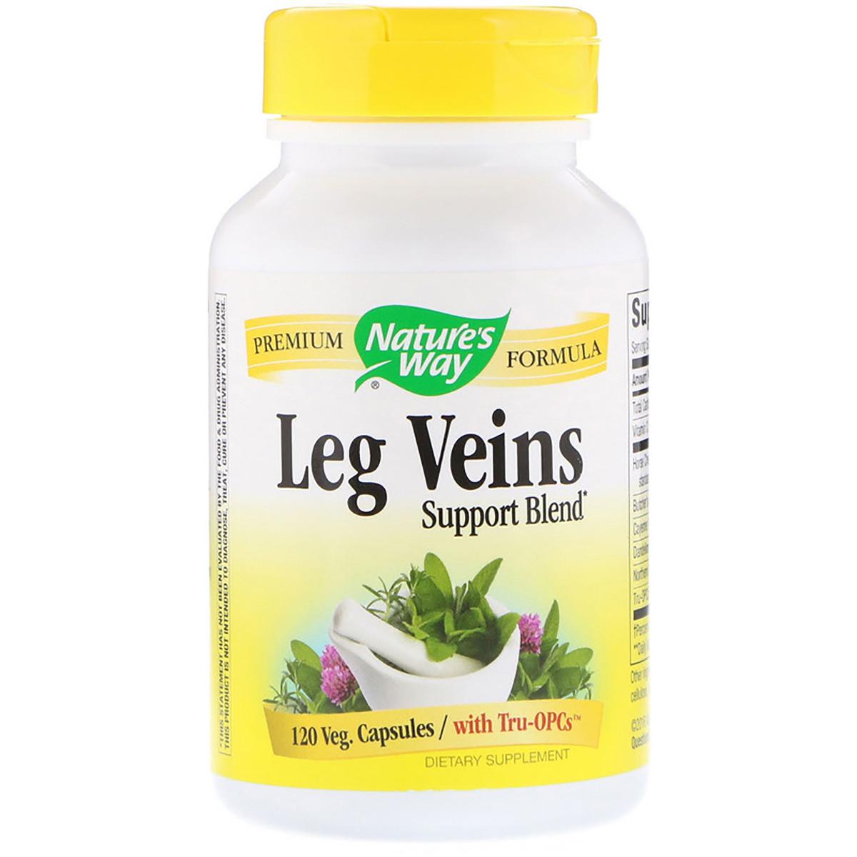 Поддержка Вен, Leg Veins Support Blend, Nature's Way, 120 капсул