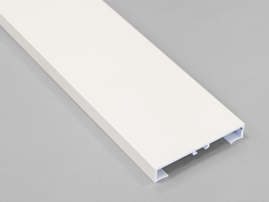Прямой плинтус алюминиевый 60мм. Metal Line 89/613 - PROFILPAS, белый матовый