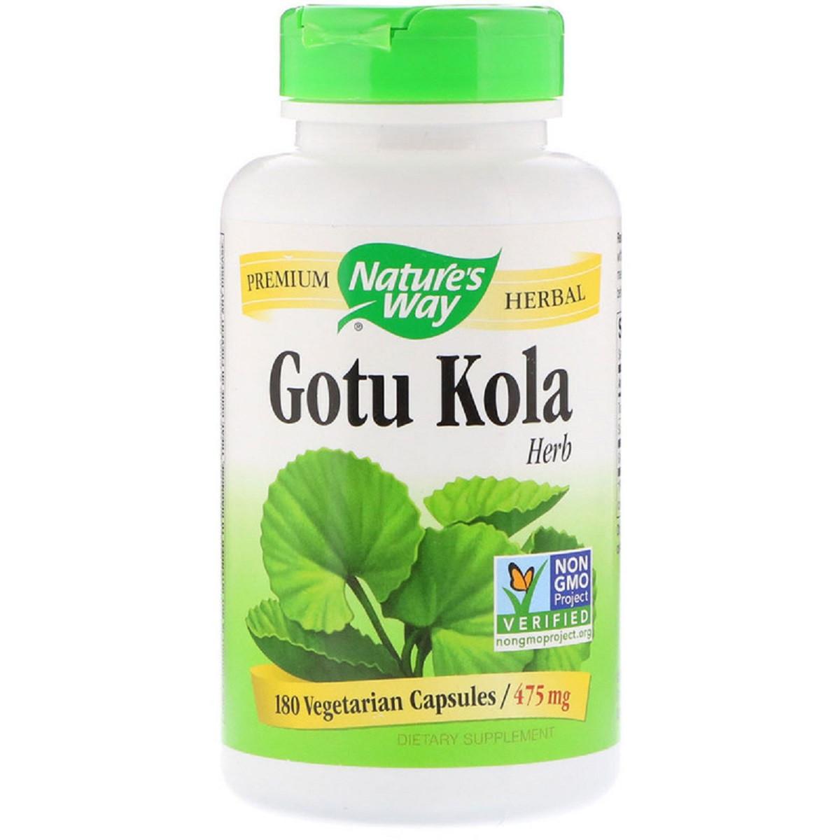 Готу Кола, Gotu Kola Herb, 950  mg, Nature's Way, 180 Капсул