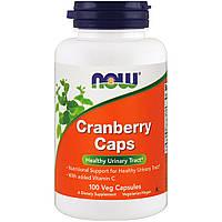 Клюква, Now Foods,Cranberry Caps, 100 гелевых капсул