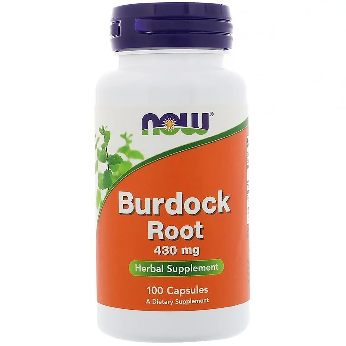 Корень лопуха 430мг, Now Foods, Burdock Root, 100 капсул