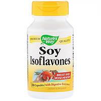 Соевые Изофлавоны, Soy Isoflavones, Nature's Way, 100 капсул