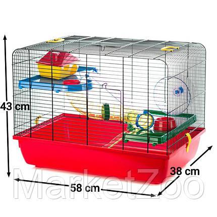 JERRY2 клетка с трубой для грызунов 58*38*43см G122 Интер-зоо, фото 2