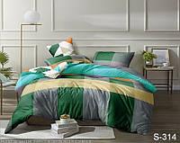 Стильное постельное белье семейное из люкс-сатина с компаньоном S314
