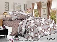 Семейный комплект постельного белья с двумя пододеяльниками из люкс-сатина S341