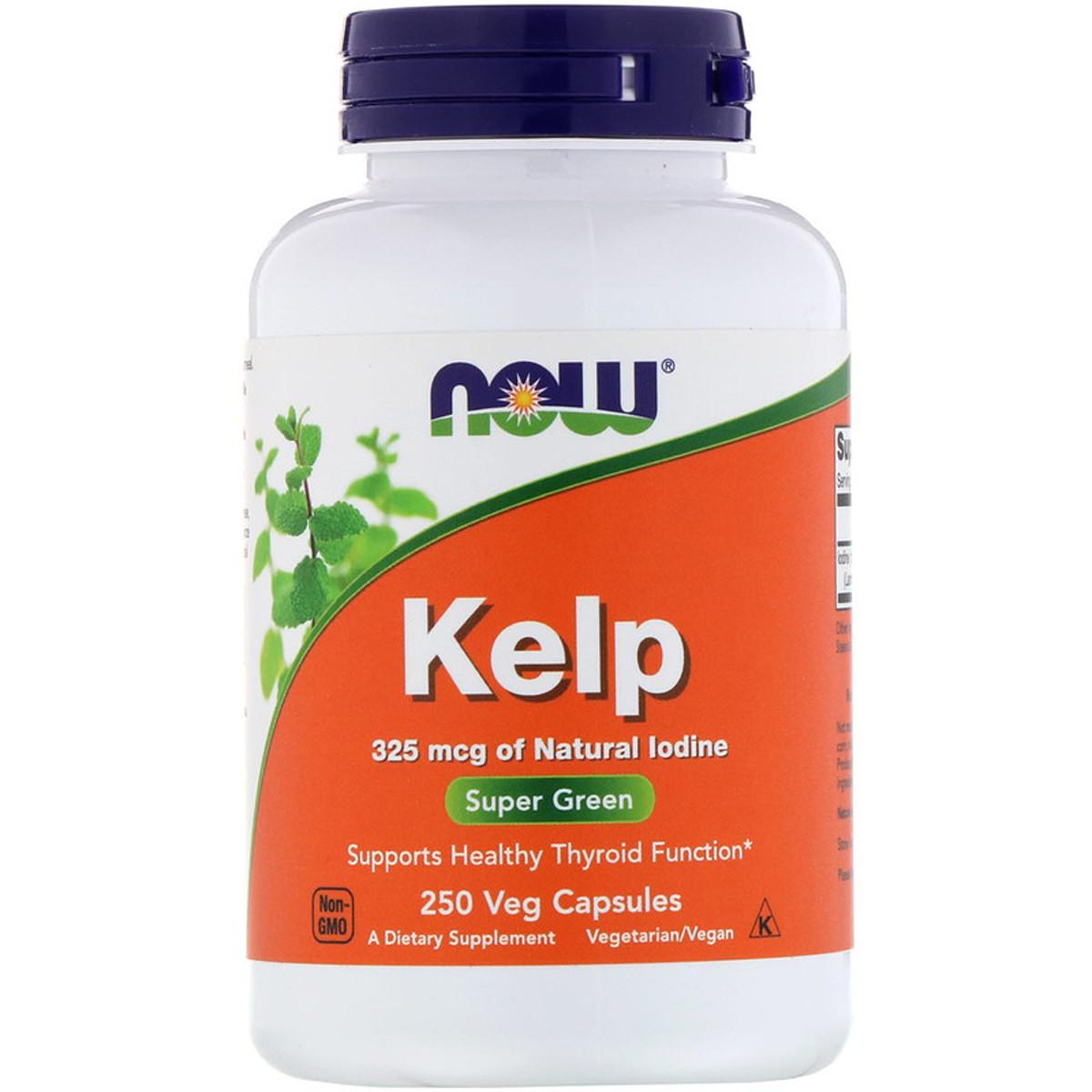 Натуральный Йод, (Ламинария), Kelp, Now Foods, 250 капсул