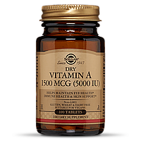 Витамин А 1500 мкг, Solgar, 100 таблеток