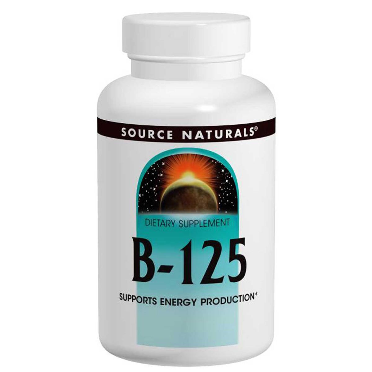 Комплекс Витаминов Группы B 125мг, Source Naturals, 60 таблеток