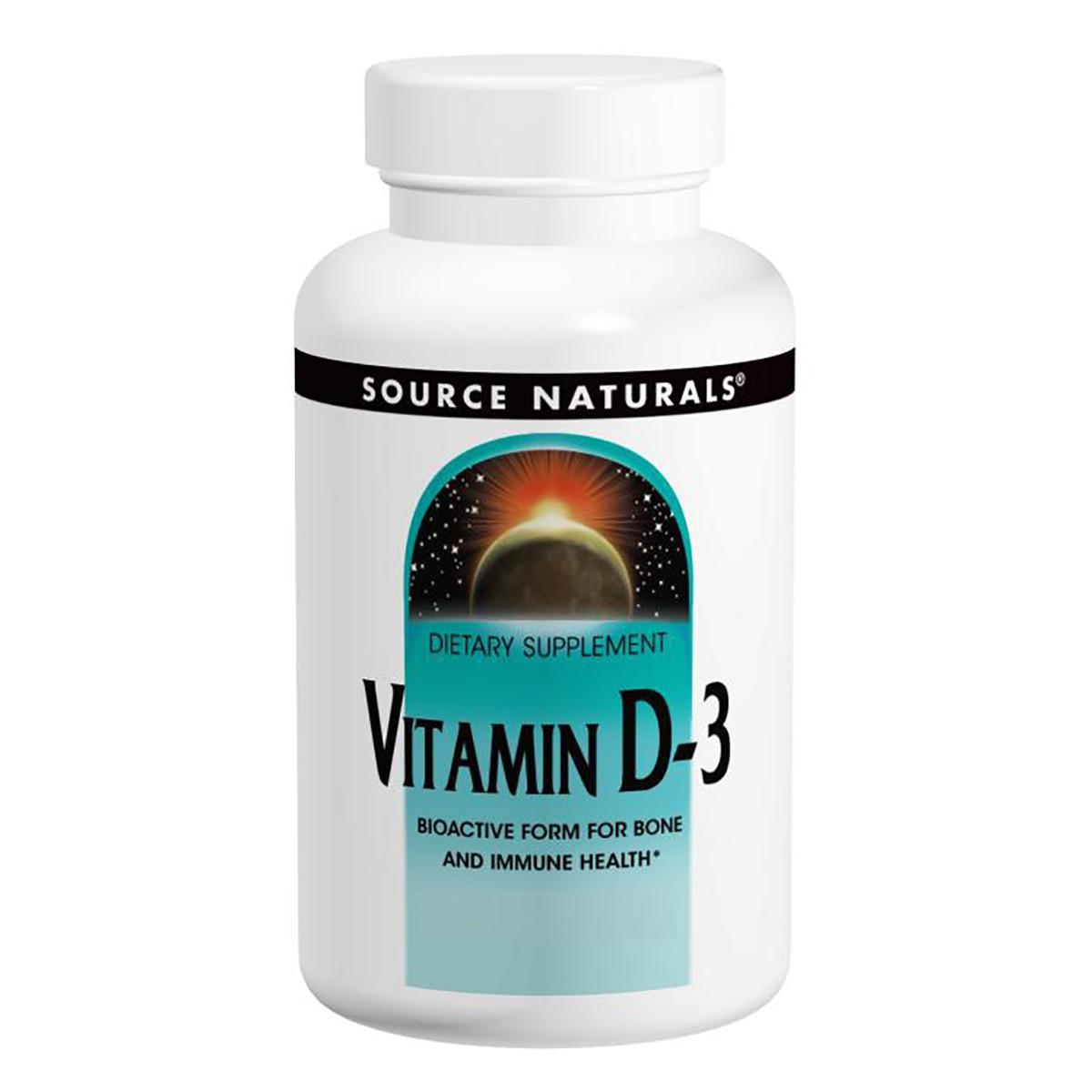 Витамин D-3 2000IU, Source Naturals, 100 капсул