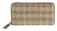 Функціональний міцний плетений шкіряний якісний жіночий гаманець барсетка MORO art. MR-122-76N плетінка, фото 1