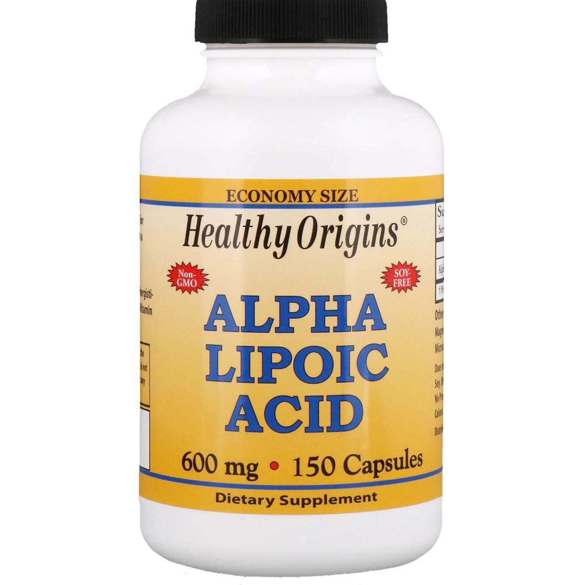 Альфа Липоевая Кислота 600мг, Healthy Origins, 150 капсул