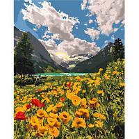 KHO 2268 Величественные Альпы Картина по номерам на холсте (без коробки) 40х50см