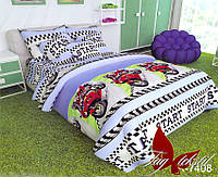 Комплект постельного белья для мальчика из ранфорса R7408