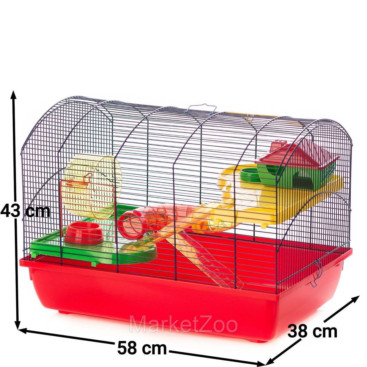 Клетка для грызунов VICTOR III + TUBES Inter Zoo G118 ( 580*380*430 мм)