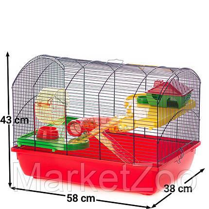 Клетка для грызунов VICTOR III + TUBES Inter Zoo G118 ( 580*380*430 мм), фото 2