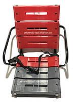 Супер-прочное детское велокресло на багажник красно-серый