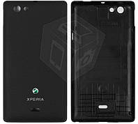 Задняя панель корпуса для Sony Xperia Miro ST23i, оригинал (черный)