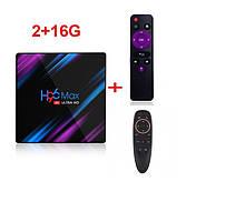 Смарт ТВ приставка SmartTV H96 Max 2gb/16gb Android TV box + пульт Air Mouse