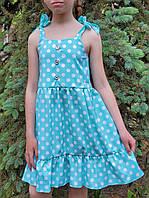 Модное  платье для девочки  код 930  лето , размеры на рост от 116 до 134 возраст от 5 лет и старше, фото 1