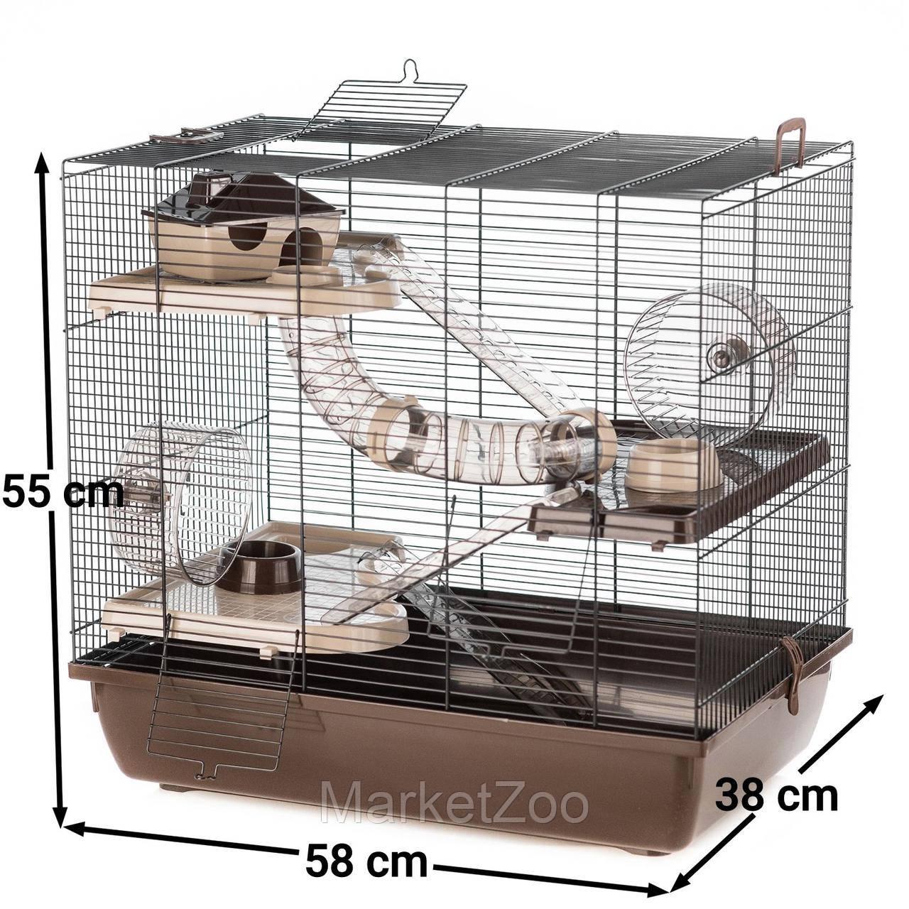 Клетка HOMER для грызунов ™️ InterZoo G180 (580*380*550 мм)