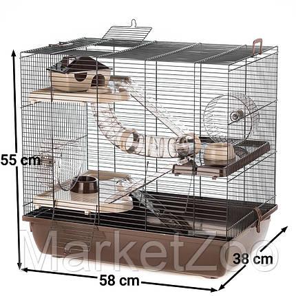 Клетка HOMER для грызунов ™️ InterZoo G180 (580*380*550 мм), фото 2