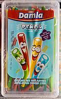 Damla Sour Pencil  жевательные лакричные конфеты трубочки 1500g Tayas Турция