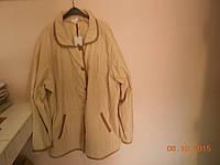 Легкая стеганая молочная куртка 64-66 размера Magnet, фото 1