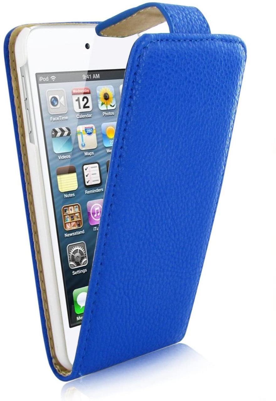 KOLAY чехол флип Shiny Finish Sea Blue for iPhone SE/5/5S (BMFLP5SN)