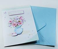 Открытки бумажные картонные декоративные с конвертом для денег