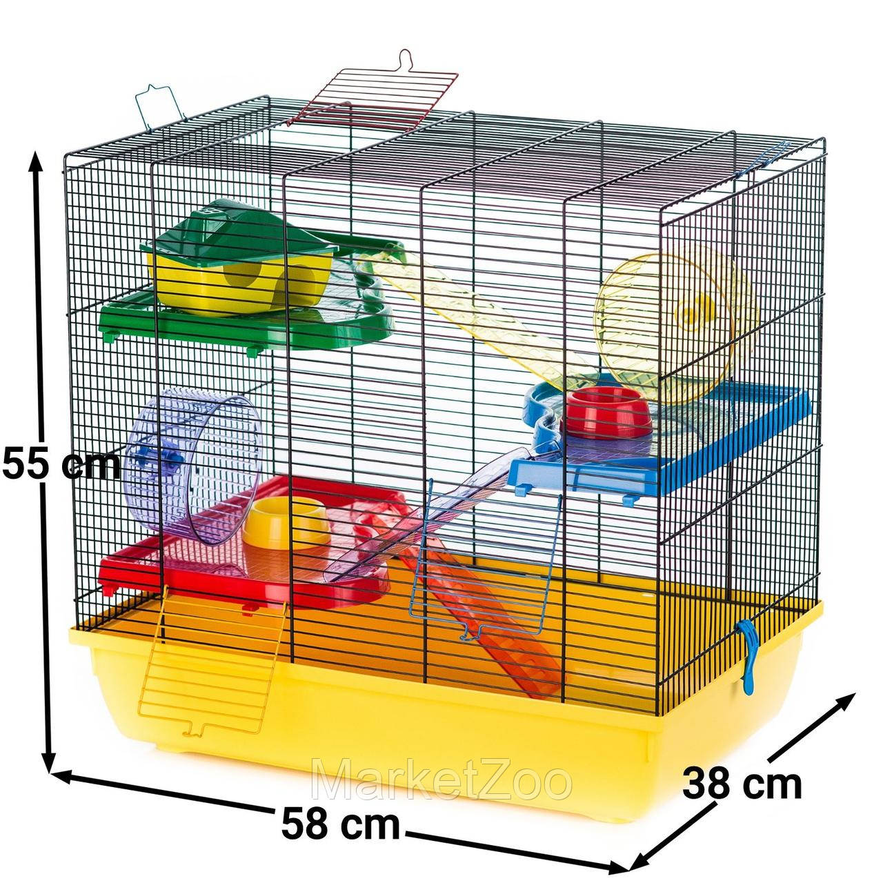 Клетка для грызунов TEDDY GIGANT II ™️ InterZoo G085 (580*380*550 мм)