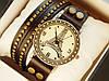 Мужские (Женские) кварцевые наручные часы Eiffel Tower на кожанном длинном ремешке