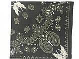 Хлопковая тёмно оливковая бандана классический рисунок, фото 4