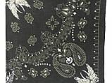 Хлопковая тёмно оливковая бандана классический рисунок, фото 2