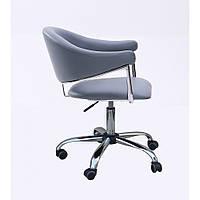 Стул для косметолога, стульчик для мастера маникюра СН-8056 К цвет черный/серый