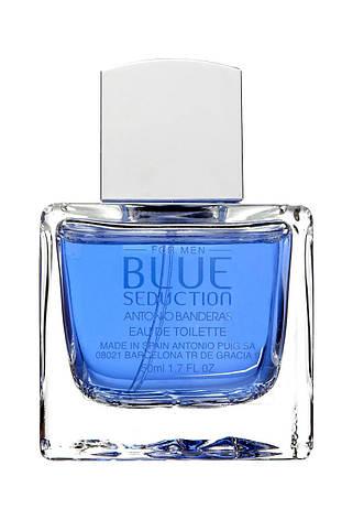 Antonio Banderas Blue Seduction For Men 100 мл Туалетная вода (Антонио Бандерас Блю Седакшн) Мужской Парфюм, фото 2