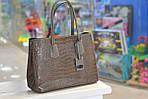 Модная женская кожаная сумка таупе