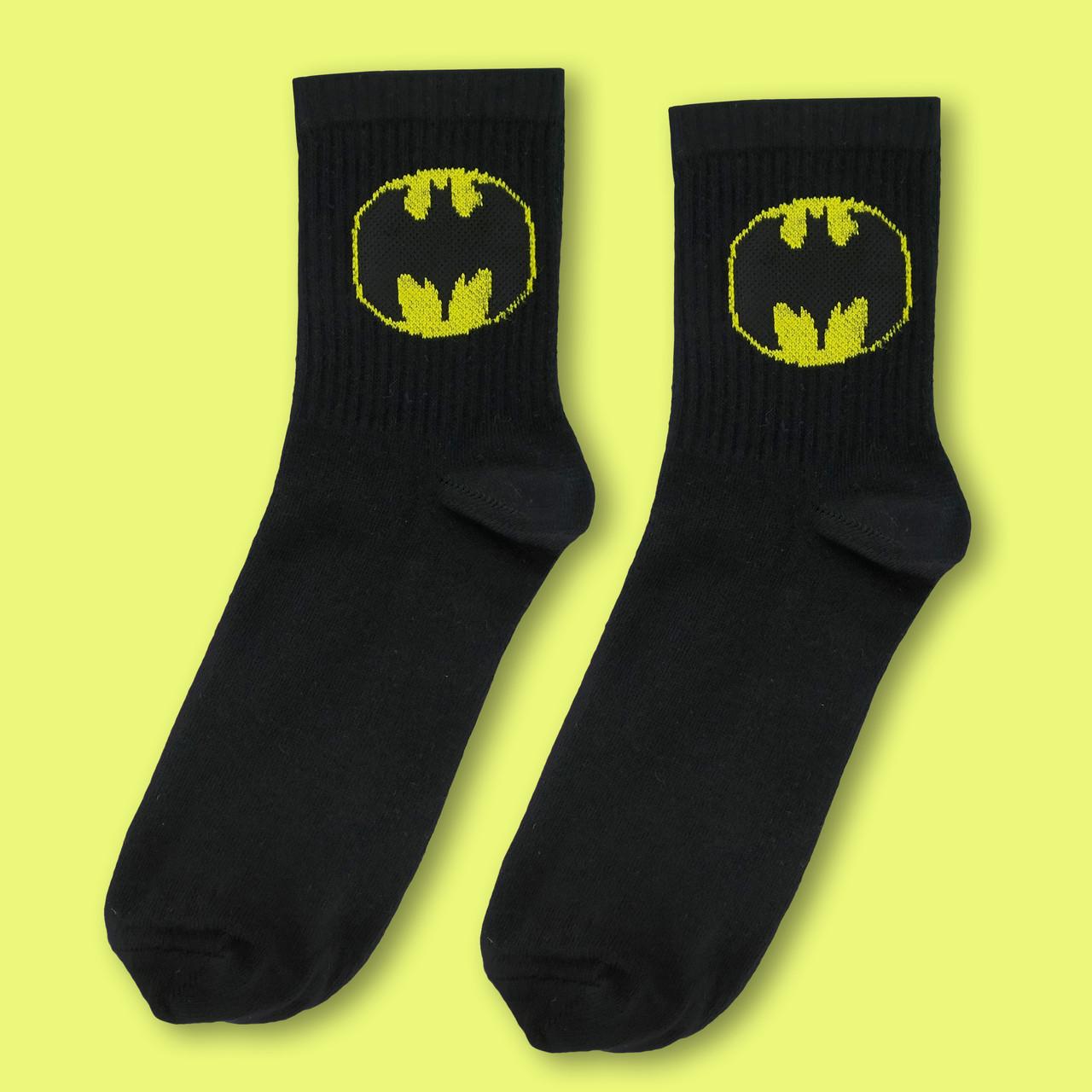 """Носки черные с принтом """"Бэтмен """""""