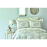 Комплект постельного белья сатин Karaca Home евро размер Vina gri, фото 2